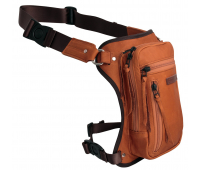 Мотосумка на бедро KUSHITANI 2WAY LEG BAG BROWN